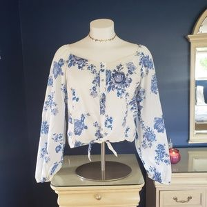 Wild Fable Cropped Blouse
